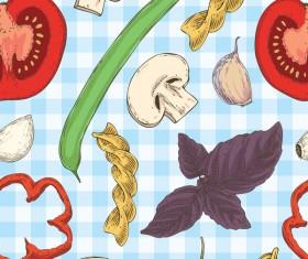 italian food seamless pattern vector