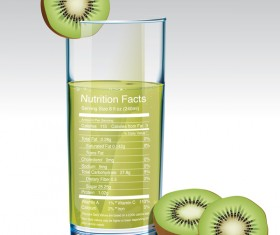 kiwi juice nutrition vector
