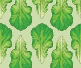lettuce seamless pattern vectors