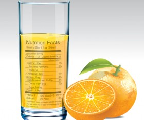 orange juice nutrition vector