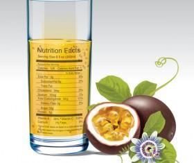 passionfruit juice vector