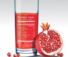pomegranate juice nutrition vector