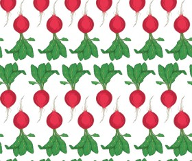 radish seamless pattern vector 01