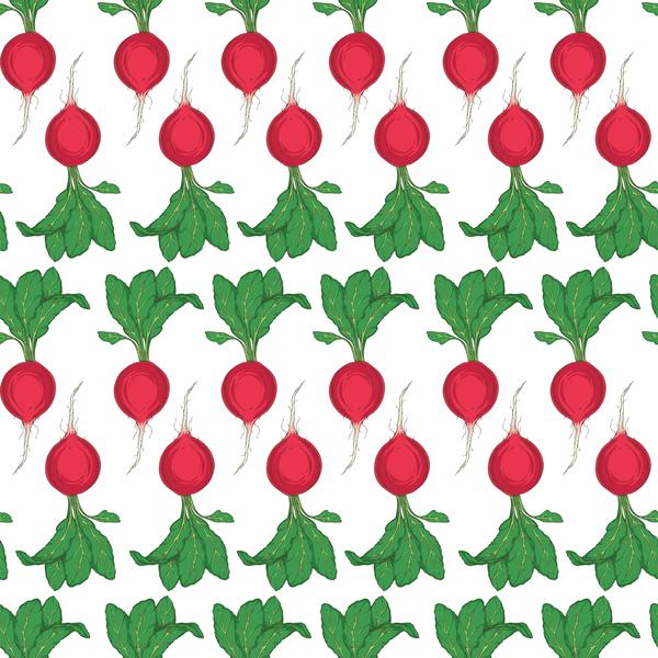 radish seamless pattern vector 01