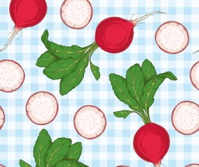 radish seamless pattern vector 02