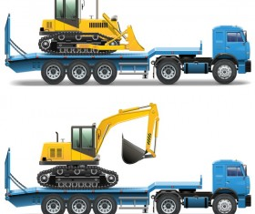 trailer illustration vector
