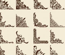 16 Kind corner ornaments vectors set