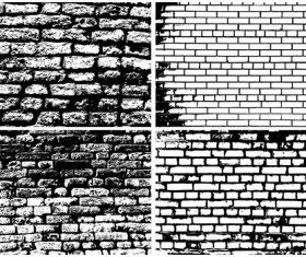 4 Kind Brick wall retro background