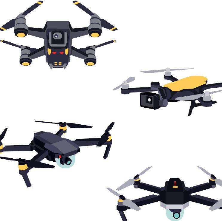 4 Kind drone vector material