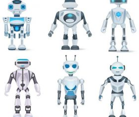 6 Kind robots model vector