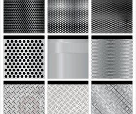 9 Kind metal background vectors