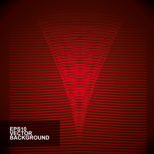 Abstract lines with red background vector