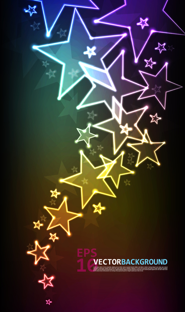 Abstract star background vectors material