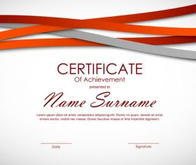 Achievement certificate template vector