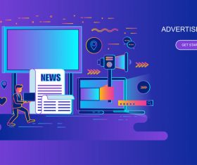 Advertising flat design concept vector