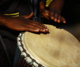 African tambourine Stock Photo 01