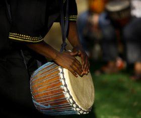 African tambourine Stock Photo 02