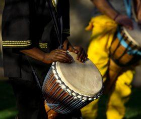 African tambourine Stock Photo 03