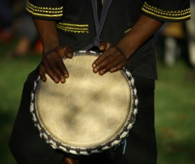 African tambourine Stock Photo 04