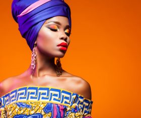 African woman wearing national dress fashion posing Stock Photo 20