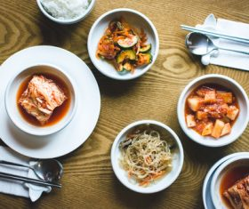 All kinds of Korean Kimchi Stock Photo