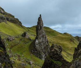 Amazing rocky mountain scenery Stock Photo