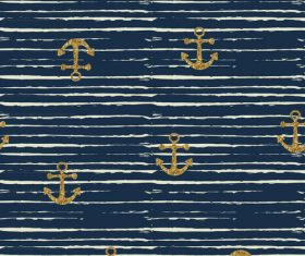 Anchor seamless pattern vector 03