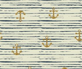 Anchor seamless pattern vector 04