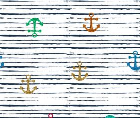 Anchor seamless pattern vector 05