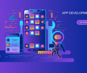 App development design concept vector