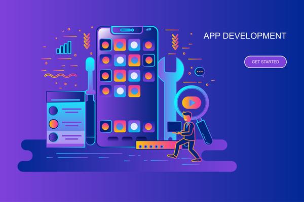 App development design concept vector