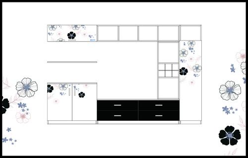 Art Audiovisual Cabinet vector