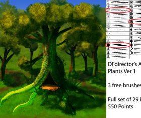 Artsy Plants Photoshop Brushes