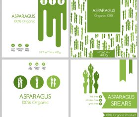 Asparagus package box template vector