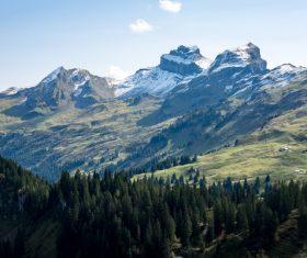 Awesome highland area scenery Stock Photo