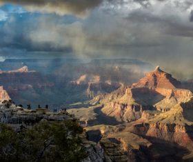 Awesome rocky mountain scenery Stock Photo