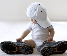 Baby and adult shoes Stock Photo 01