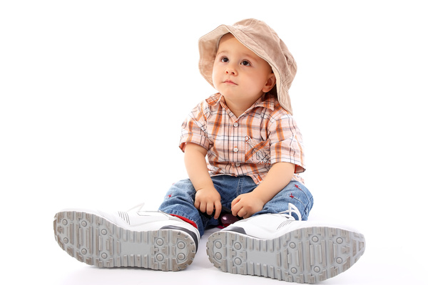 Baby and adult shoes Stock Photo 03