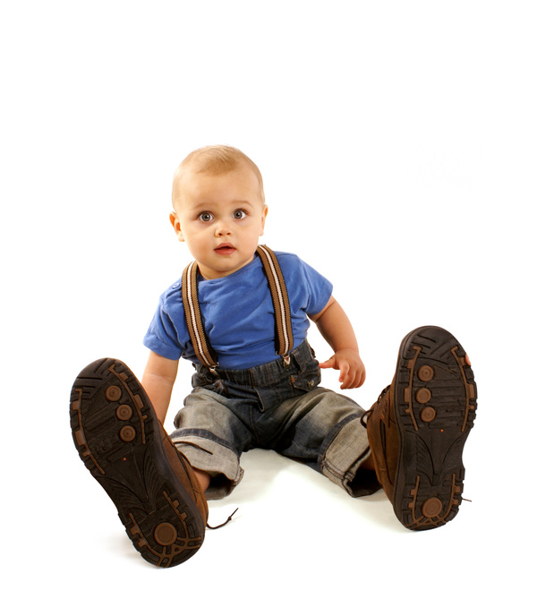 Baby and adult shoes Stock Photo 04
