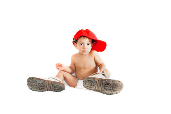 Baby and adult shoes Stock Photo 07
