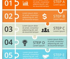 Banner option graphs Infographic template vector 01