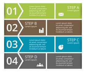 Banner option graphs Infographic template vector 02