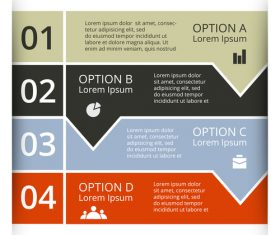 Banner option graphs Infographic template vector 05