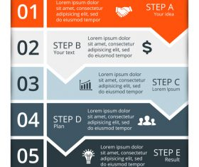 Banner option graphs Infographic template vector 09