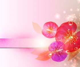 Beautiful cricle flower with abstract background vector