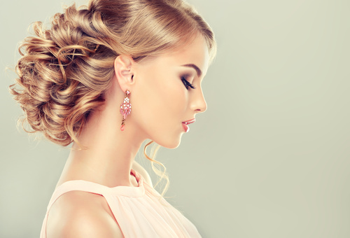 Beautiful model with elegant hairstyle Stock Photo 02