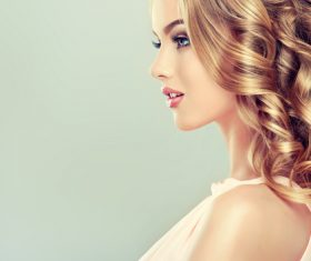 Beautiful model with elegant hairstyle Stock Photo 03