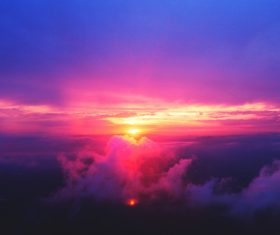 Beautiful morning glow Stock Photo