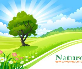 Beautiful natural landscape vectors 01