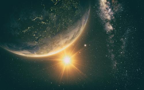 Beautiful planet Stock Photo 03